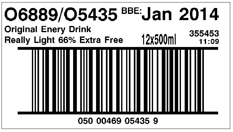 Barcode Case Label